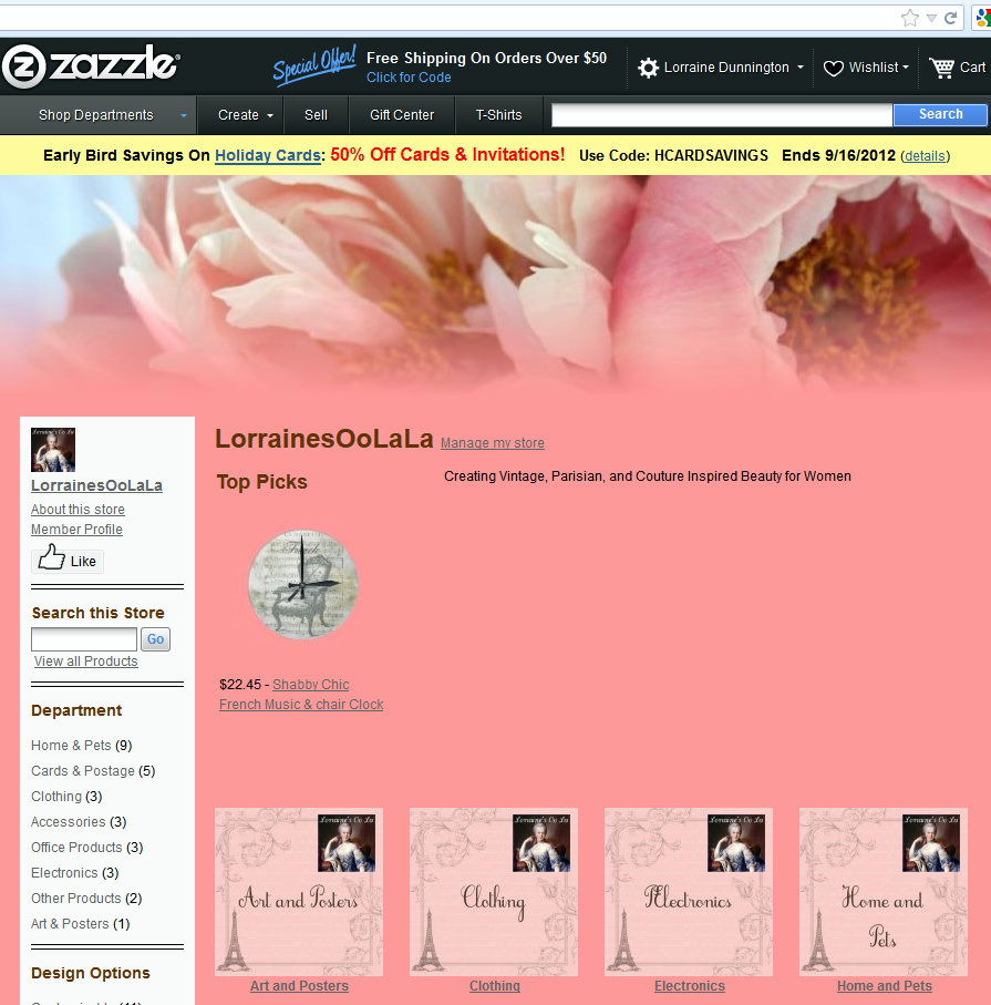 Lorraine's Oo La La Zazzle Store